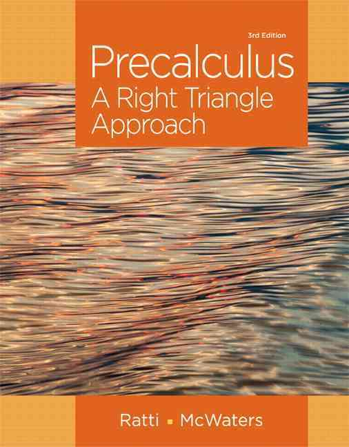 Precalculus By Ratti, Jogindar/ McWaters, Marcus